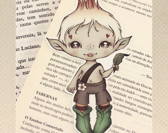 Elf pocket size bookmark - made to order
