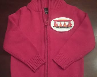 Daniel Tiger Red Trolley Full-Zip  Cardigan Sweater