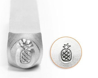 Pineapple Metal Design Stamp ImpressArt- 6mm Design Stamp-Steel Stamps-NEW!