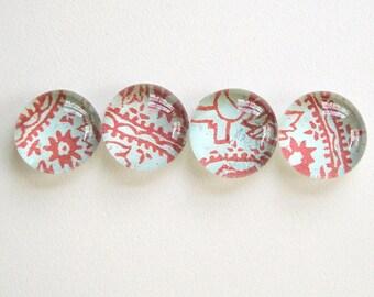 Batik - Glass Magnets (SALE)