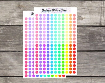 Small Dot Planner Stickers Pastel & Primary Colors