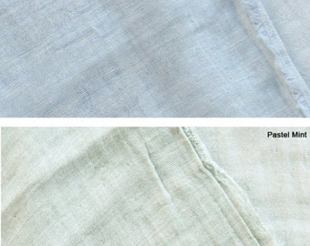 Double Gauze Fabric Pastel Blue By The Yard