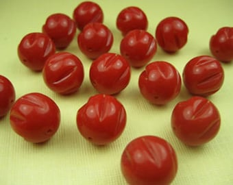 80 Vintage Red Beads