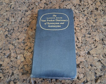Vintage Vest Pocket Dictionary of Synonyms and Antonyms