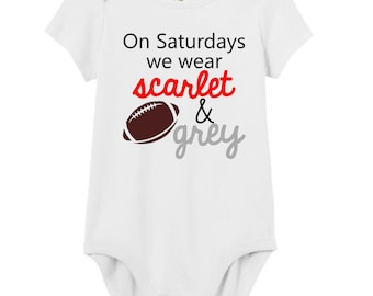 Ohio State Football Shirt / Scarlet and Grey Buckeyes Baby / Ohio State Shirt / Ohio State Baby Girl / Ohio State Baby Boy / OSU Buckeyes