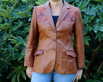Vintage H Bar C California Ranchwear Leather Jacket, Vintage Woman's Leather Jacket, Women's Leather Coat, Western Jacket, Hipster Jacket,