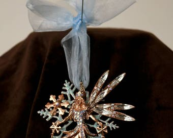 Kirks Folly Snowflake Fairy Pendant / Pin
