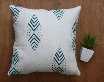 """Mudcloth Pillow Cover, Double sided mud cloth pillow, Tribal Pillow Cover for 20"""" x 20"""" Pillow Inserts - REF: MUDWB3"""