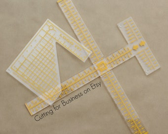 "Tee Square It ""i"" & Logo Grid It Alignment Tool Set - Heat Transfer Vinyl, HTV, Rhinestones, Iron On Transfers"