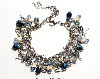 real rattlesnake vertebrae snake bone taxidermy charm bracelet