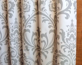 10 Colors, Designer Curtains 24W or 50W x 63, 84, 90, 96 or 108L Traditions Damask Collection, Nursery Curtains, Baby Room Curtains