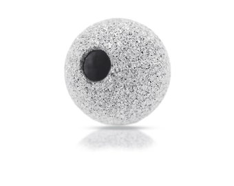 Silver spacers Sterling Silver 4mm Stardust Beads 1.1mm Hole size - 20pcs (2020)/1