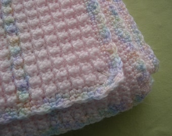 Cotton Candy Crochet Afghan