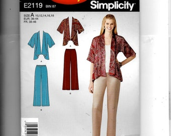 Simplicity Misses'  Jacket and Pants  Pattern 2119