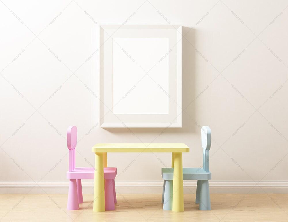 Kindergarten Mockup Rahmen / Poster Rahmen Fotografie Stil /