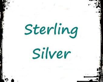 Sterling Silver Hooks, Upgrade Earrings, Silver Hooks for Earrings, Exchange Closure on Sterling Silver