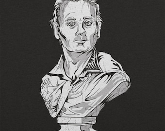 Busted Bill Murray Funny Statue Men's Adult Unisex T-Shirt