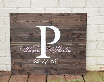 Wedding Guest book Alternative | Wooden Guest book | Wooden Wedding Decor | Large Initial Guest book