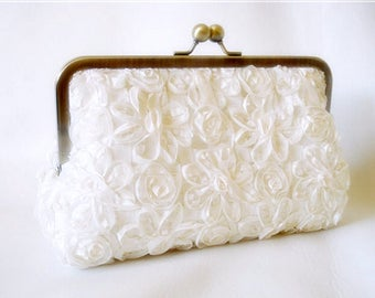 Wedding Clutch Something new Something blue Collection Made to Order
