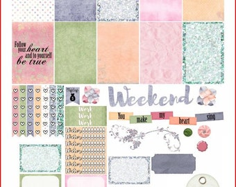 Morning Grace Printable Stickers for The Happy Planner