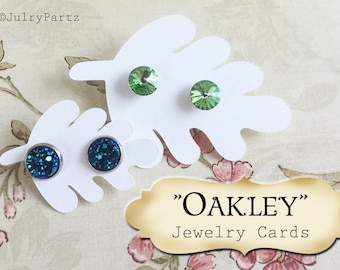 OAKLEY STUD•EARRING Cards•Jewelry cards•Earring Display•Post Earring Card•Stud card•Boutique Supply