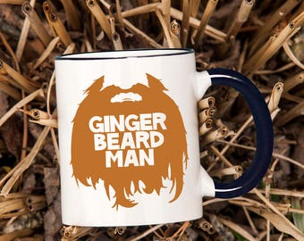 Funny Coffee Mug, Ginger Beard Man Coffee Mug, Beard Coffee Mug, Funny Father's Day Gift, Ginger Beard Mug, Husband Beard Mug- Item 1403