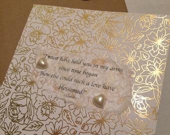 Hand crafted Wedding card by Jannietta