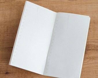 Recambio cuaderno para Traveler's Notebook planificador diario - TAMAÑO REGULAR