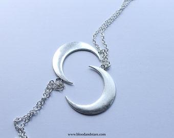 Large Moon Pendant Necklace