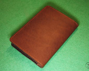 Leather passport cover brown Natural leather Passport holder