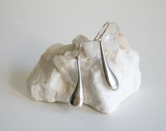 Liquid Sterling Drop Earrings