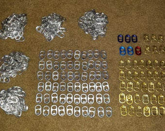 Tab lids sets of 150 (silver)