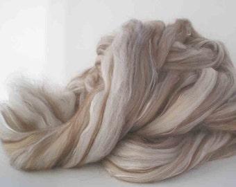 Merino/Camel/Alpaca/Silk Combed Top for Spinning or Felting   4 oz.