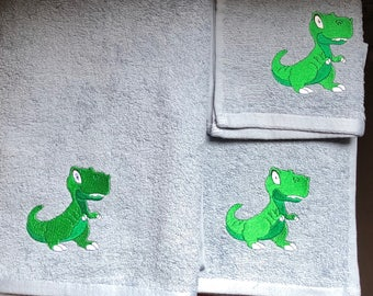 Full Towel set with Dinosaur