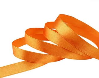 Orange satin ribbon 12mm