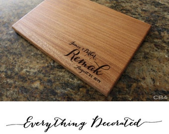 Anniversary Gift, Laser Engraved Personalized Cutting Board, Wedding Cutting Board, Wooden Cutting Board, Custom Cutting Board
