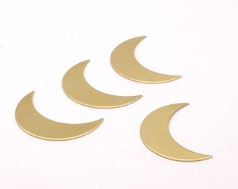 Moon Brass Blank, 10 Raw Brass Crescent Shaped Blanks (35x11x0.80mm) Moon 11