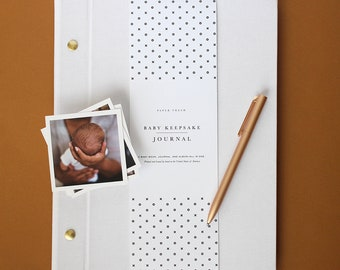 Modern Baby Book in White - Expectant Mother Gift