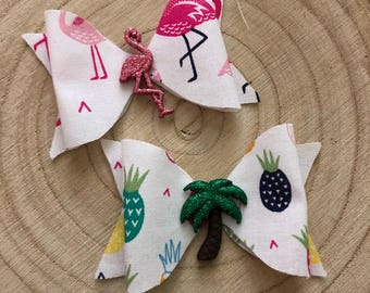 Flamingo / Pineapple Bow set