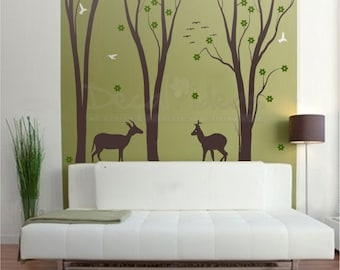 Forest Wall Decal | Etsy