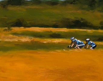 Gold Rush - Cycling Gicleé Fine Art Print