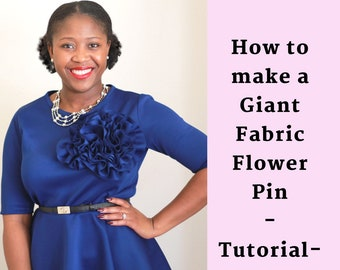 Giant Fabric Flower Video Tutorial