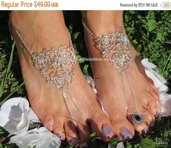 914509d36e9af wedding Beach anklets barefoot rose beach filigree wedding jewelry ...