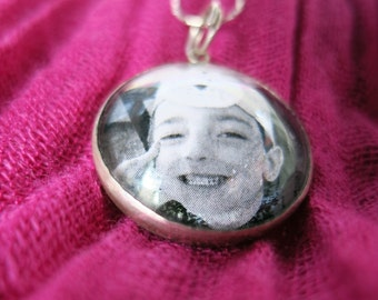 Picture Pendant, Sterling Silver Photo Pendant