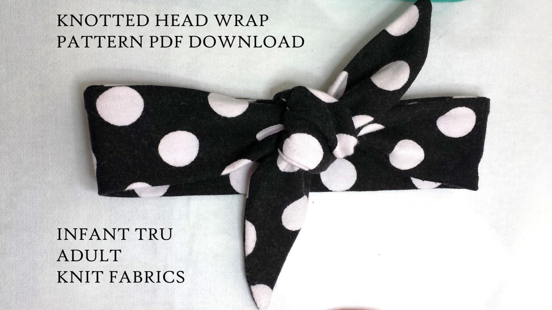 Knotted headband pattern,headwrap Pattern,baby Headband Pattern ...