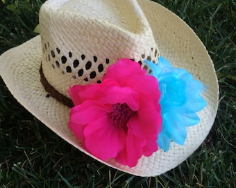 Country Cutie Flower Cowgirl Hat
