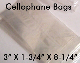 Cellophane Bags - Cello Bags, Clear Favor Bags, Popcorn Favor Bags, Food Grade Bags, Party Favor Bags, Smores Favor Bags, Clear Popcorn Bags