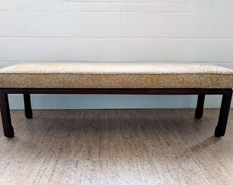 Upholstered Bench - Ming Style Bench - Asian Inspired Bench - Upholstered Coffee Table