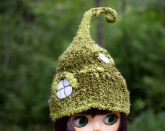 Blythe hat Blythe doll clothes Mother's day outfit Fairy hat Mossy hut Elf hat Blythe custom doll outfit Pullip clothes BJD SD helmet custom