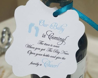 "Personalized Favor Tags 2""L x2""wThank You tags, Favor tags, Gift tags, cheers, baby boy favor tag, baby shower favor tag, wine favor tag"